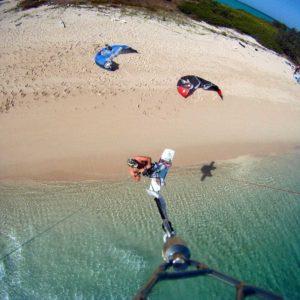 kiteboarding kitesurfing four mile beach port douglas great barrier reef
