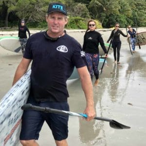 Kite SUP session coach and crew